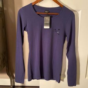 NWT Emporio Armani Long Sleeve Top Women's XS